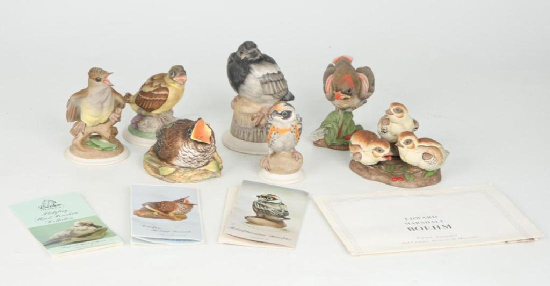 (7) BOEHM HAND PAINTED PORCELAIN BIRDS