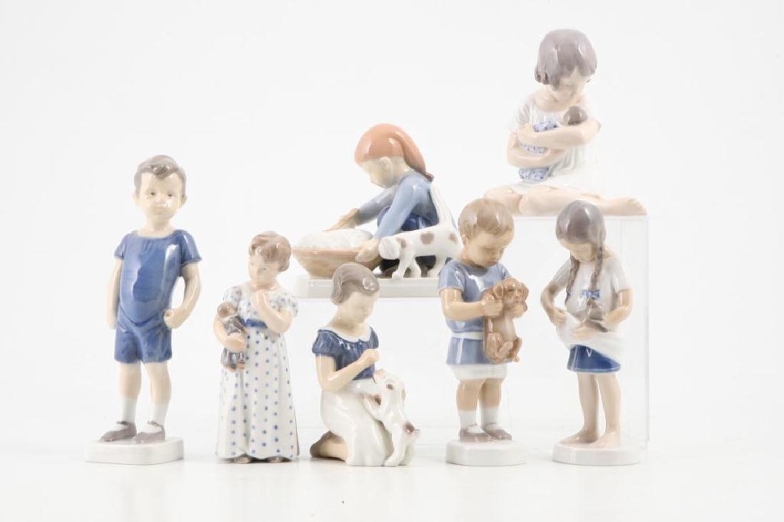 (7) ROYAL COPENHAGEN FIGURINES OF CHILDREN & PETS