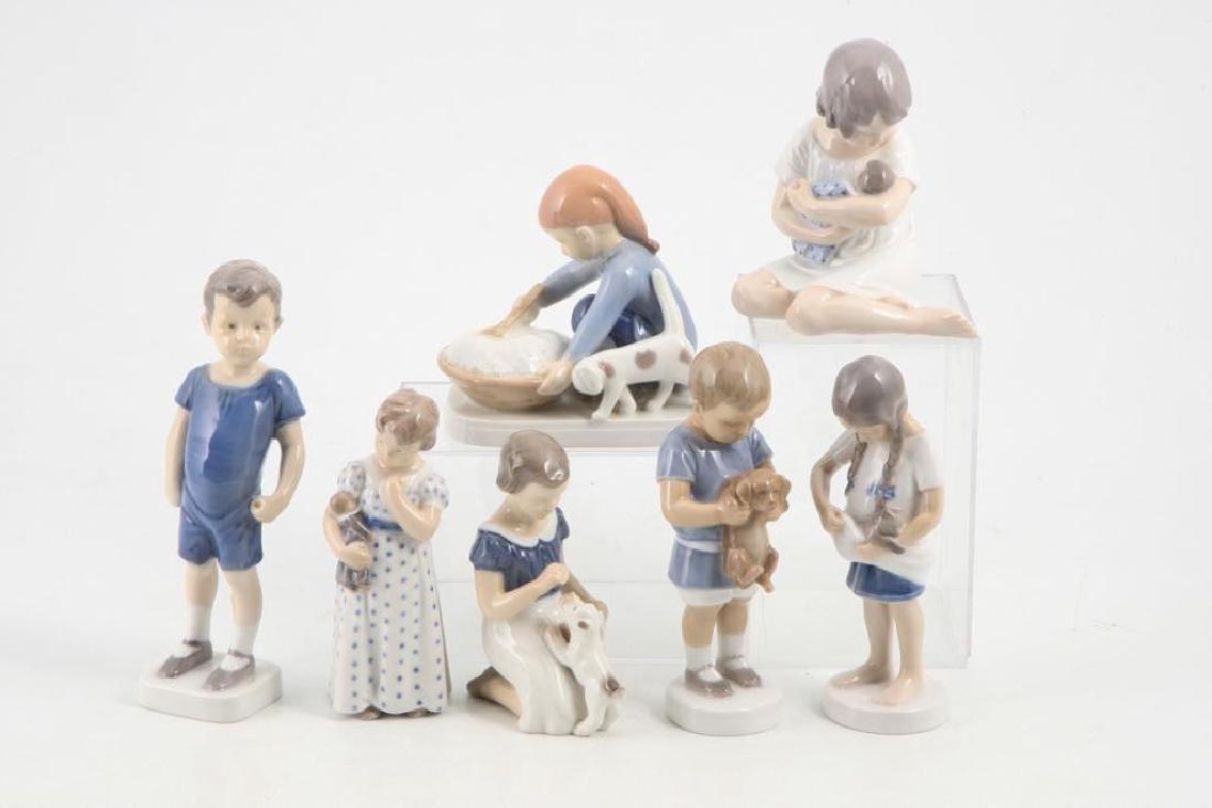 (7) ROYAL COPENHAGEN FIGURINES OF CHILDREN & PETS - 5