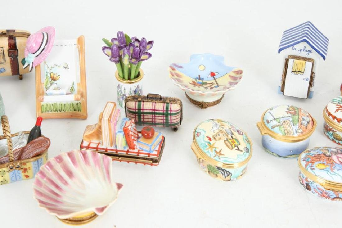 (17) BEACH THEMED ENAMELED & PORCELAIN BOXES - 2