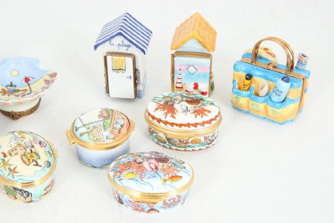 (17) BEACH THEMED ENAMELED & PORCELAIN BOXES - 3