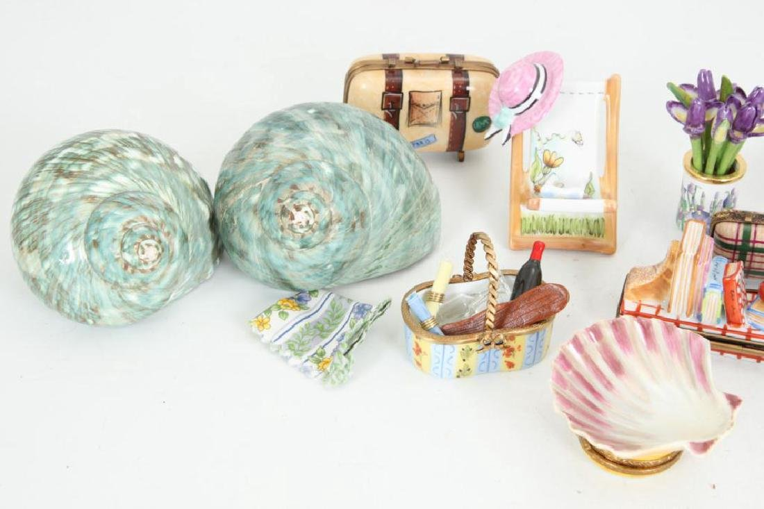 (17) BEACH THEMED ENAMELED & PORCELAIN BOXES - 4