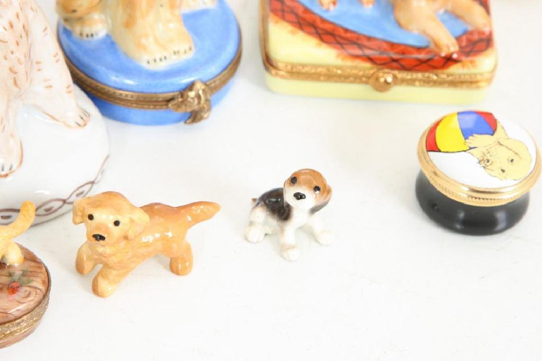 (14) PORCELAIN & ENAMEL FIGURINES AND BOXES - 3