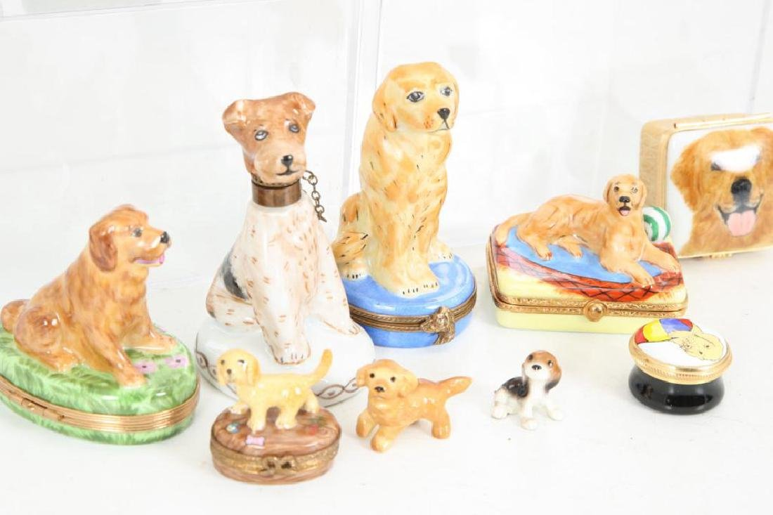 (14) PORCELAIN & ENAMEL FIGURINES AND BOXES - 4
