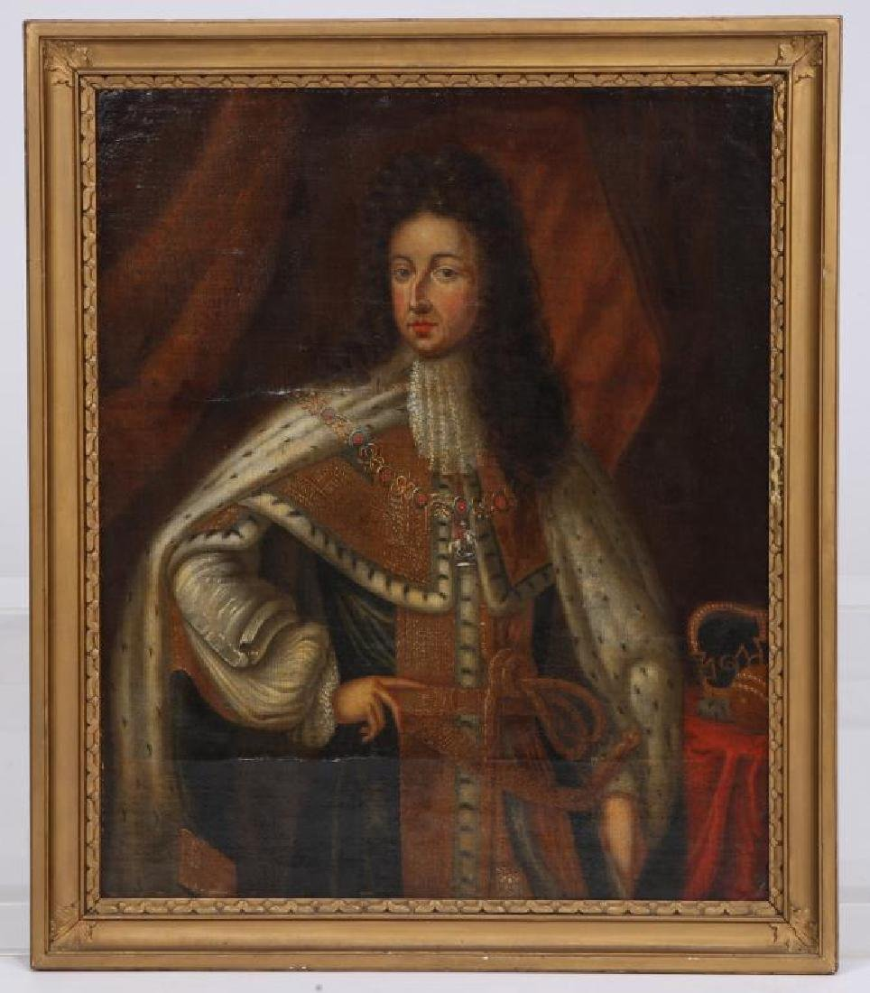 (18th c) PORTRAITS OF KING WILLIAM AND MARY - 2