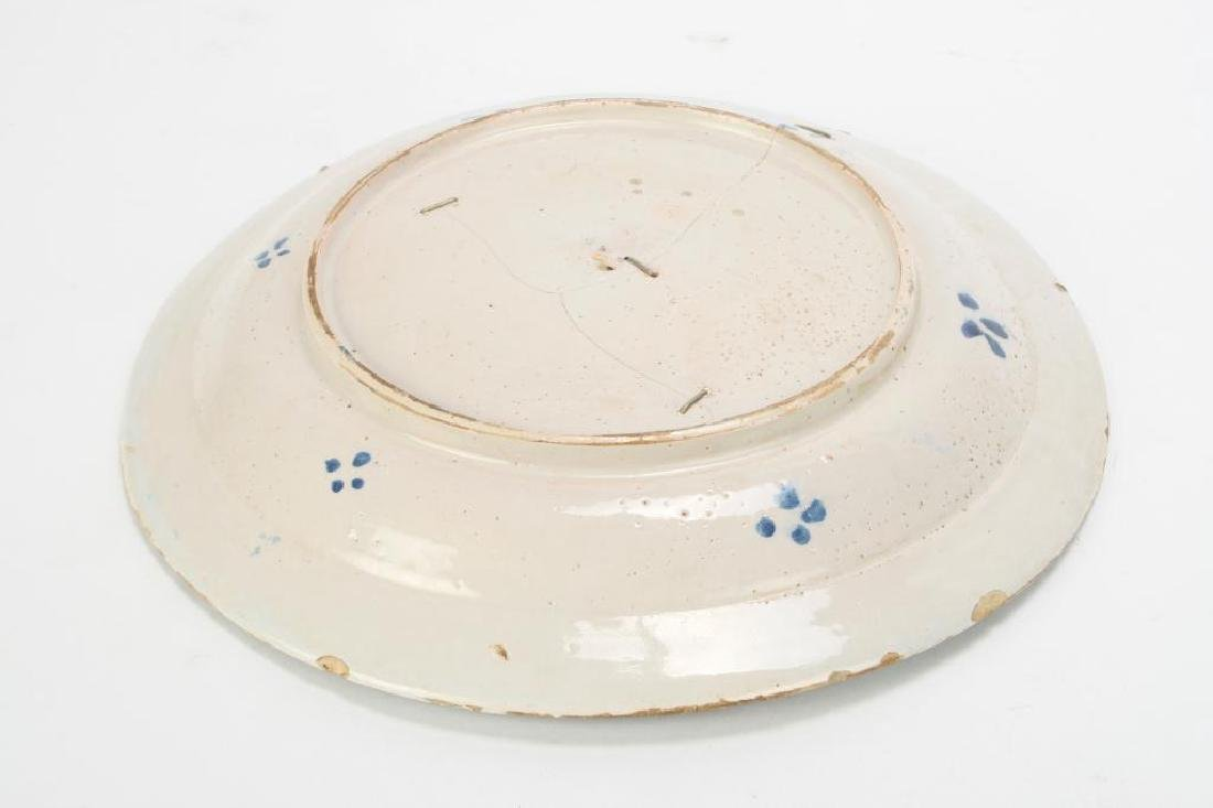 EARLY FAIENCE CHARGER - 5