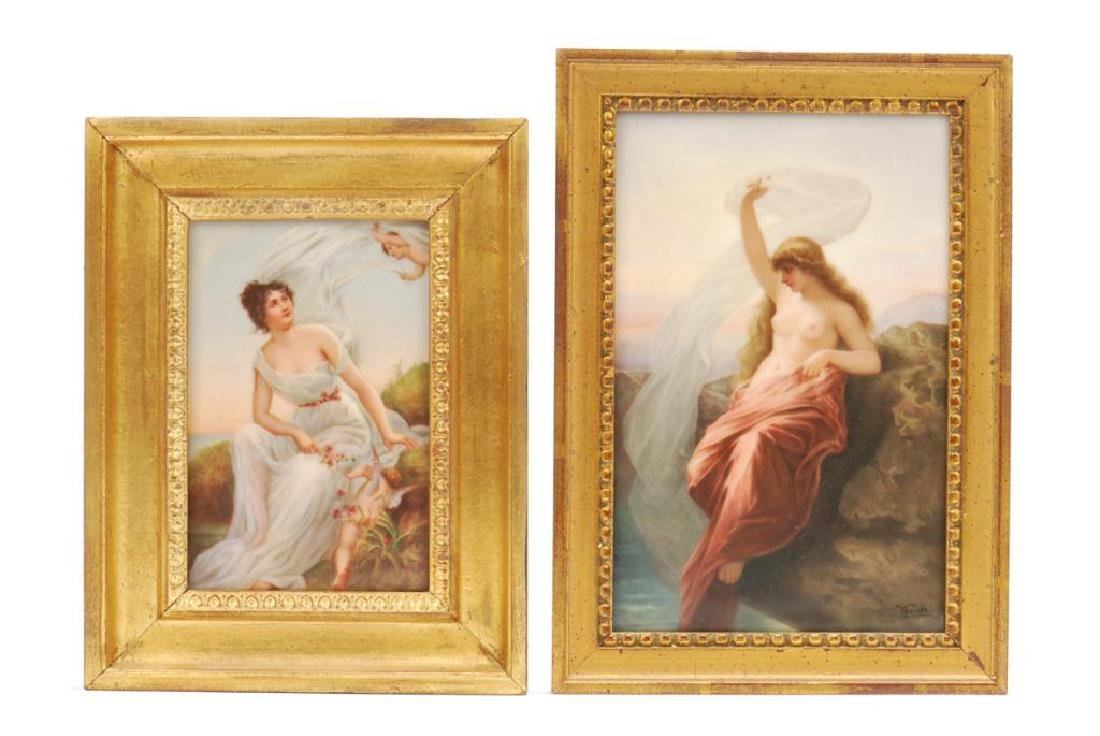 WAGNER PORCELAIN PLAQUE AND A SECOND