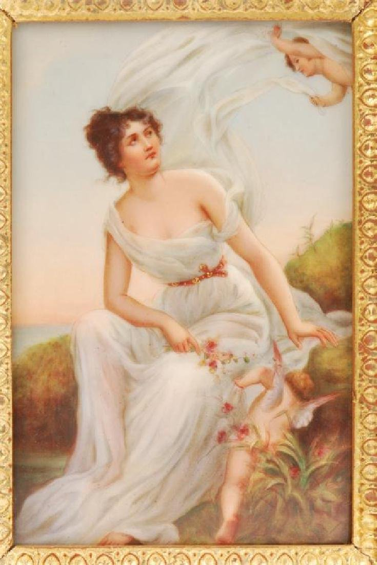 WAGNER PORCELAIN PLAQUE AND A SECOND - 3
