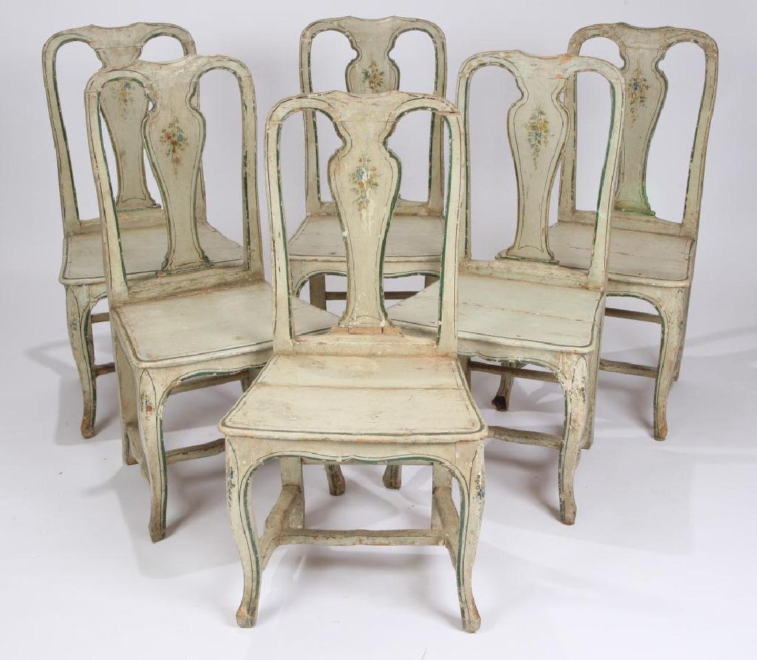 SET OF (6) FRENCH PROVINCIAL SIDE CHAIRS