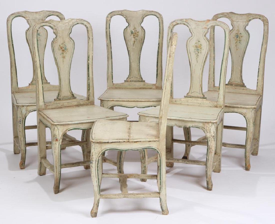 SET OF (6) FRENCH PROVINCIAL SIDE CHAIRS - 2