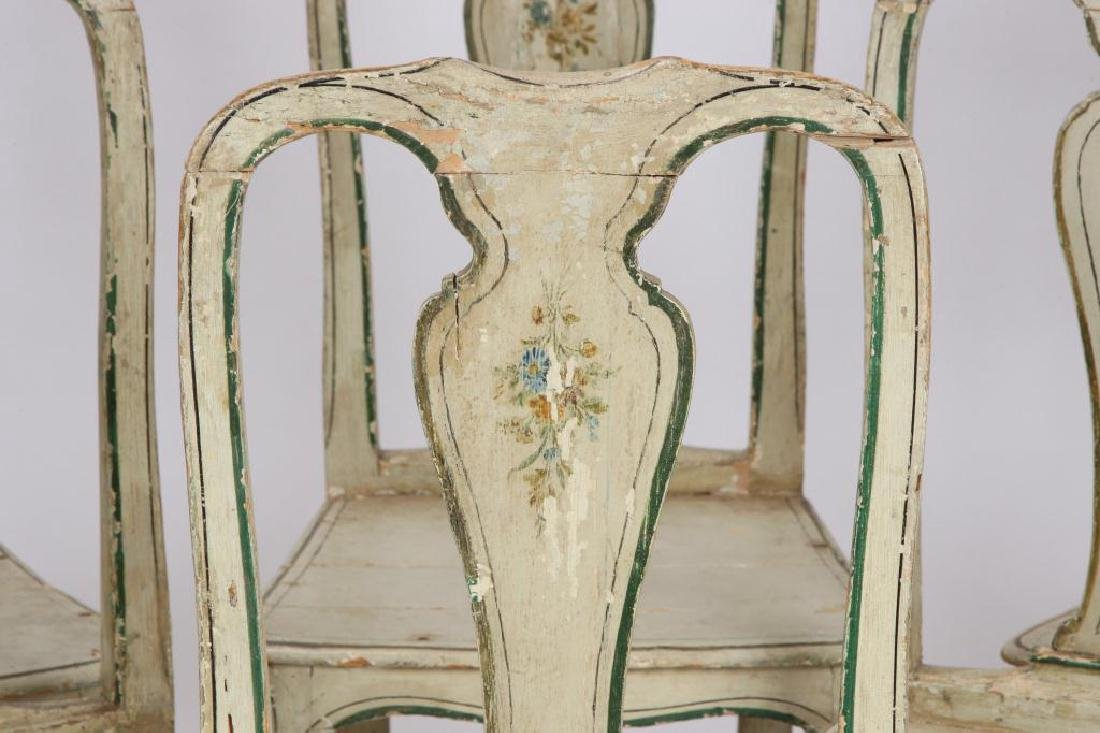 SET OF (6) FRENCH PROVINCIAL SIDE CHAIRS - 5