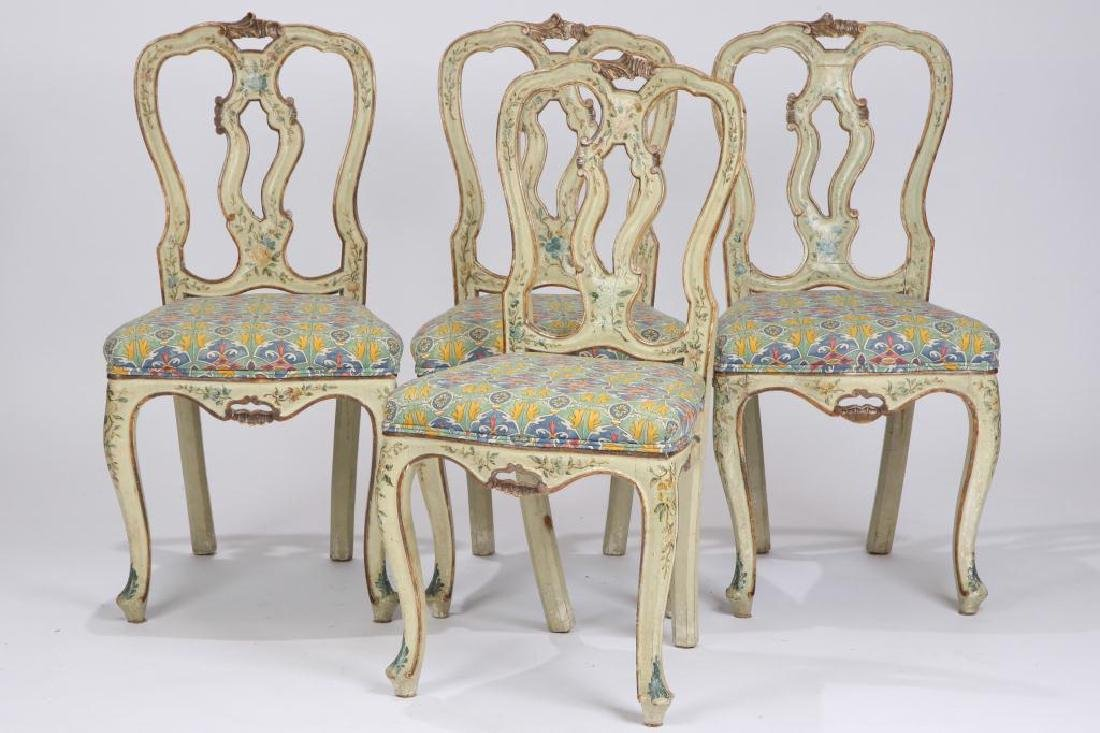 SET OF (4) FRENCH PROVINCIAL SIDE CHAIRS (19th c)