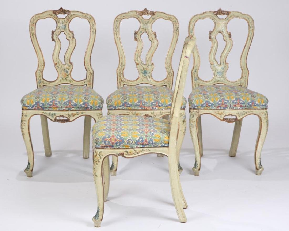 SET OF (4) FRENCH PROVINCIAL SIDE CHAIRS (19th c) - 2