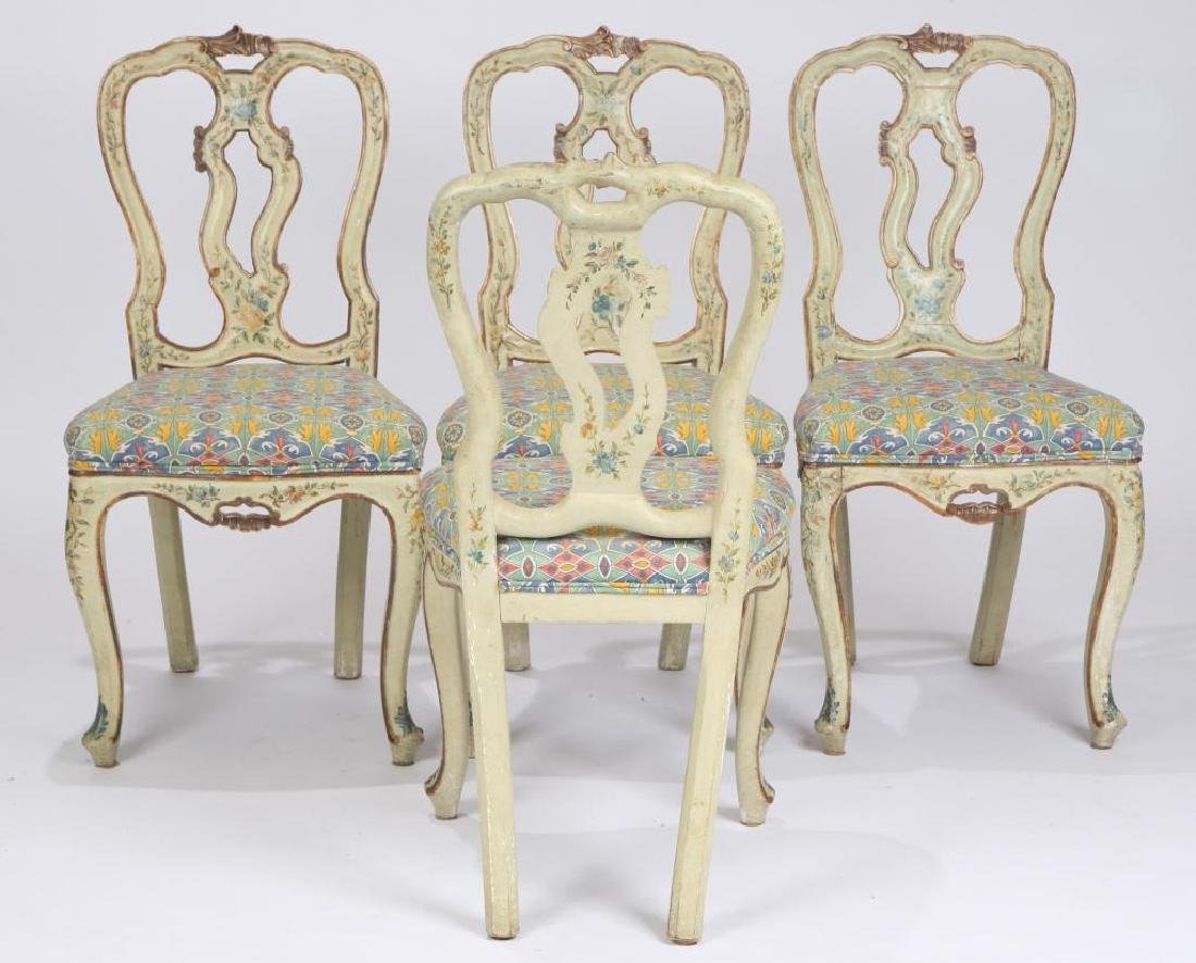 SET OF (4) FRENCH PROVINCIAL SIDE CHAIRS (19th c) - 3