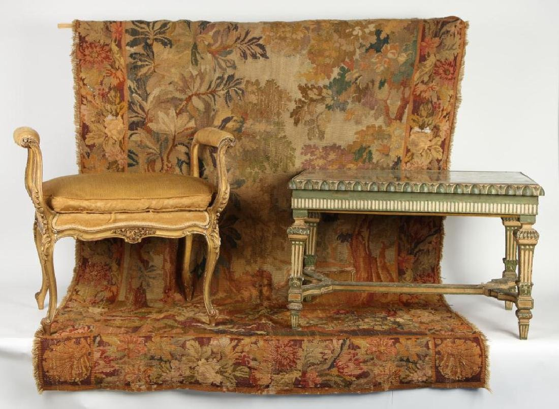 (3) PIECES OF DECORATIVE FRENCH FURNISHINGS