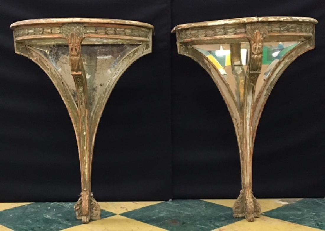 PAIR OF FRENCH PIER TABLES