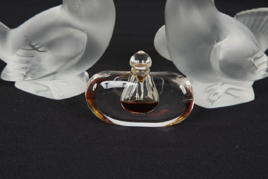 PAIR OF LALIQUE BIRDS AND TIFFANY PERFUME - 3