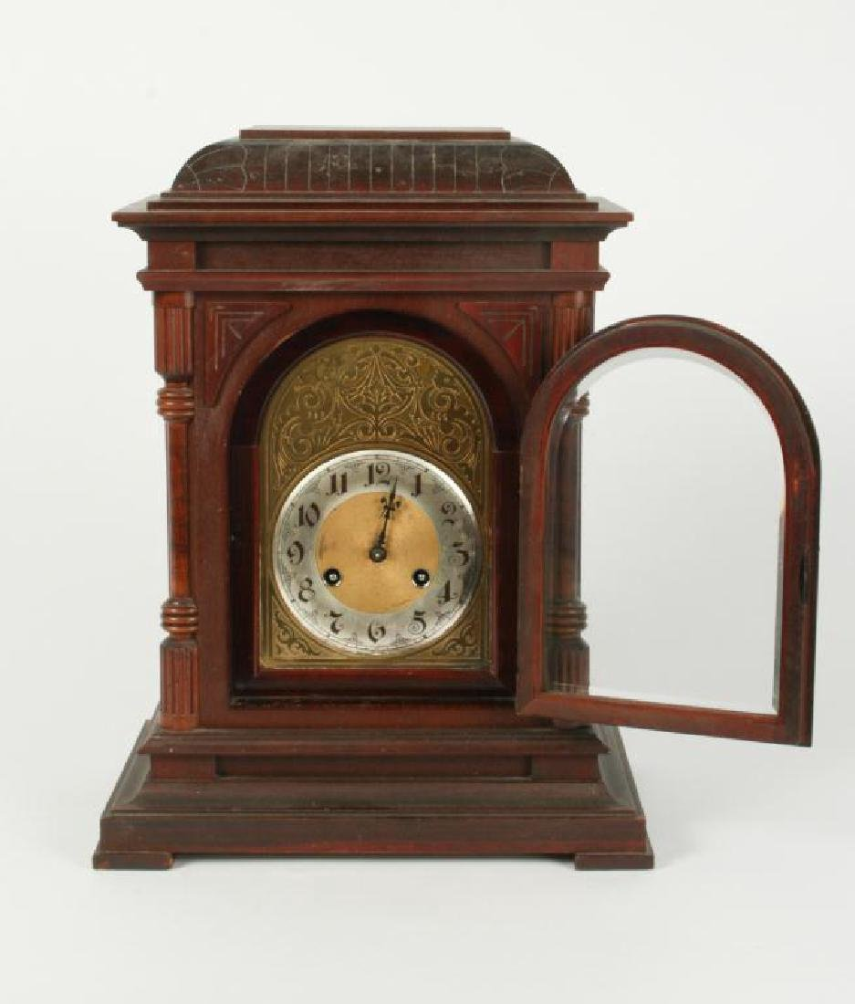 ANTIQUE JUNGHANS BRACKET CLOCK - 4