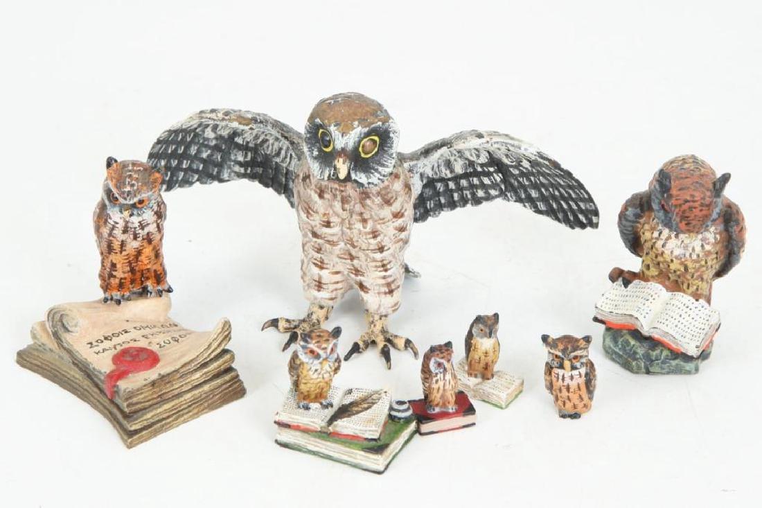(7) AUSTRIAN COLD PAINTED BRONZE OWLS