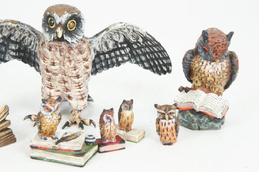 (7) AUSTRIAN COLD PAINTED BRONZE OWLS - 3