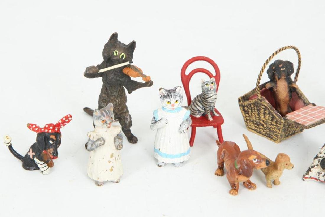 (17) AUSTRIAN COLD PAINTED BRONZE CATS & DOGS - 3