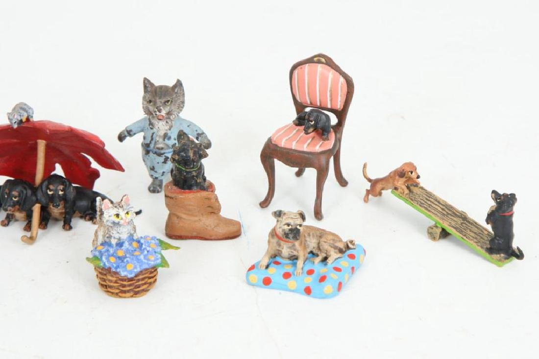 (17) AUSTRIAN COLD PAINTED BRONZE CATS & DOGS - 4