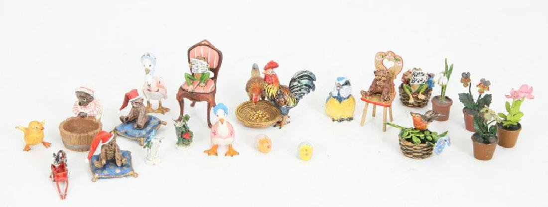 (21) AUSTRIAN COLD PAINTED BRONZE FIGURINES