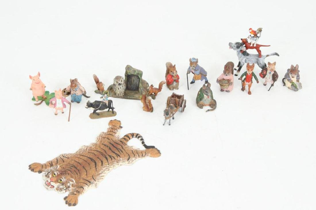 (15) AUSTRIAN BRONZE COLD PAINTED FIGURINES