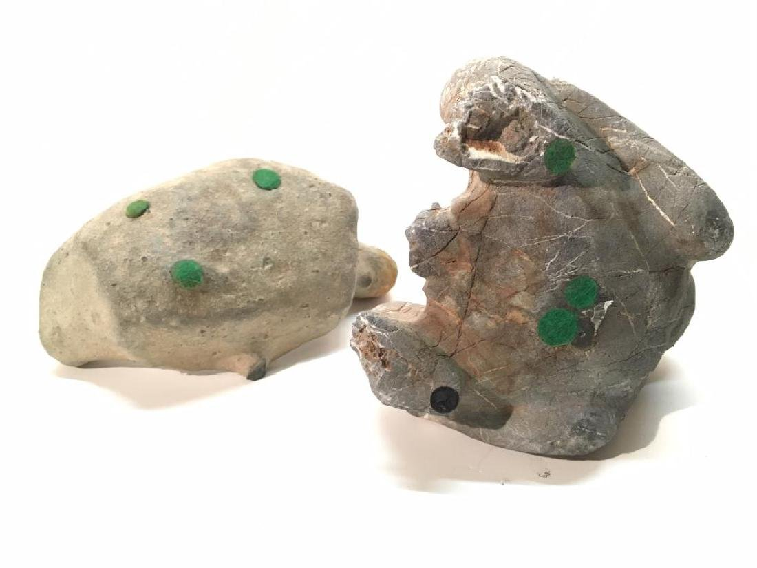 TWO PRE-COLUMBIAN STONE CARVINGS - 4