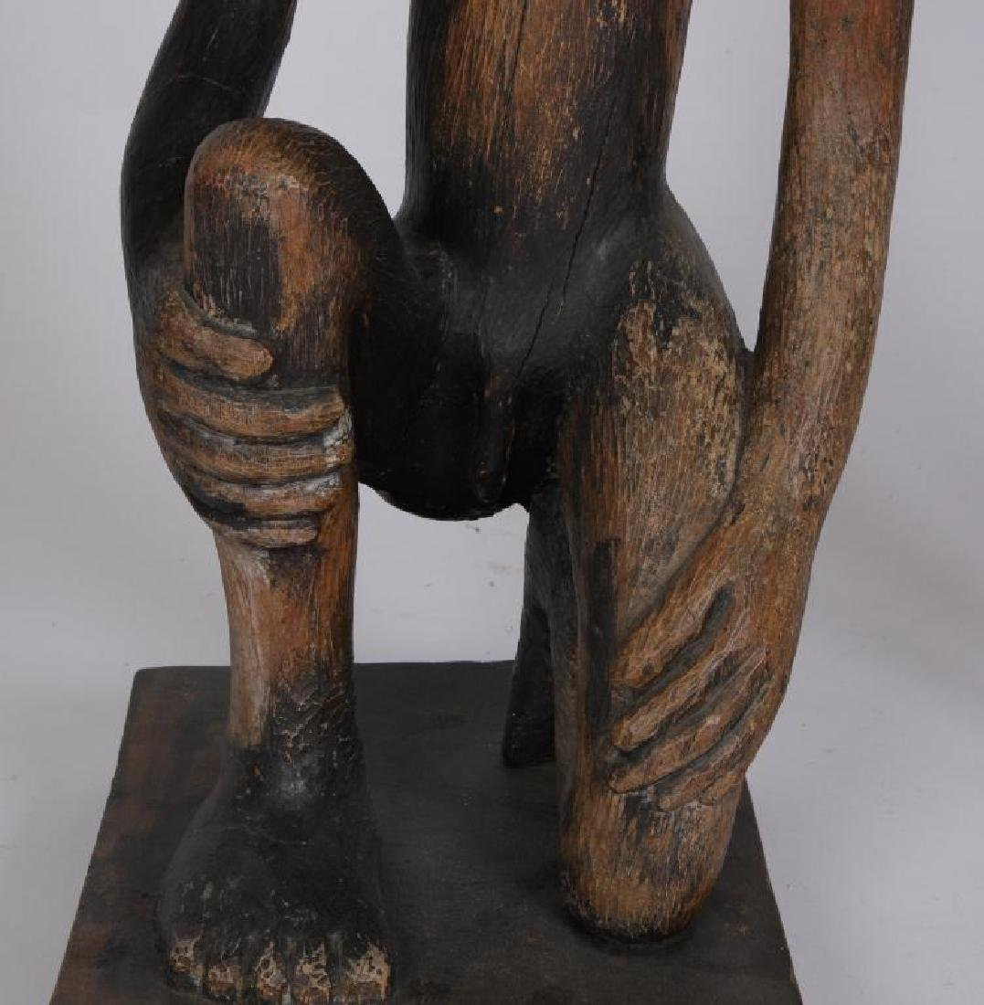 (2) HAND CARVED ETHNOGRAPHIC FERTILITY FIGURES - 5