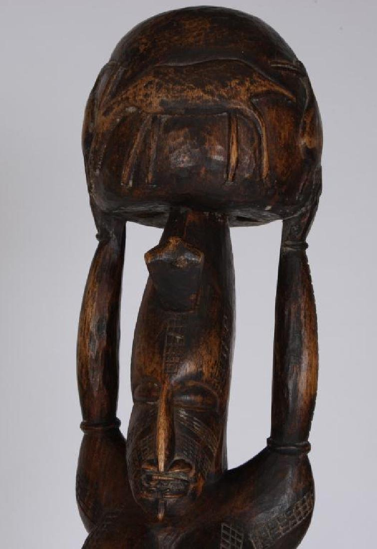 (2) HAND CARVED ETHNOGRAPHIC FERTILITY FIGURES - 6