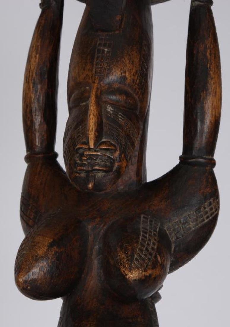 (2) HAND CARVED ETHNOGRAPHIC FERTILITY FIGURES - 7