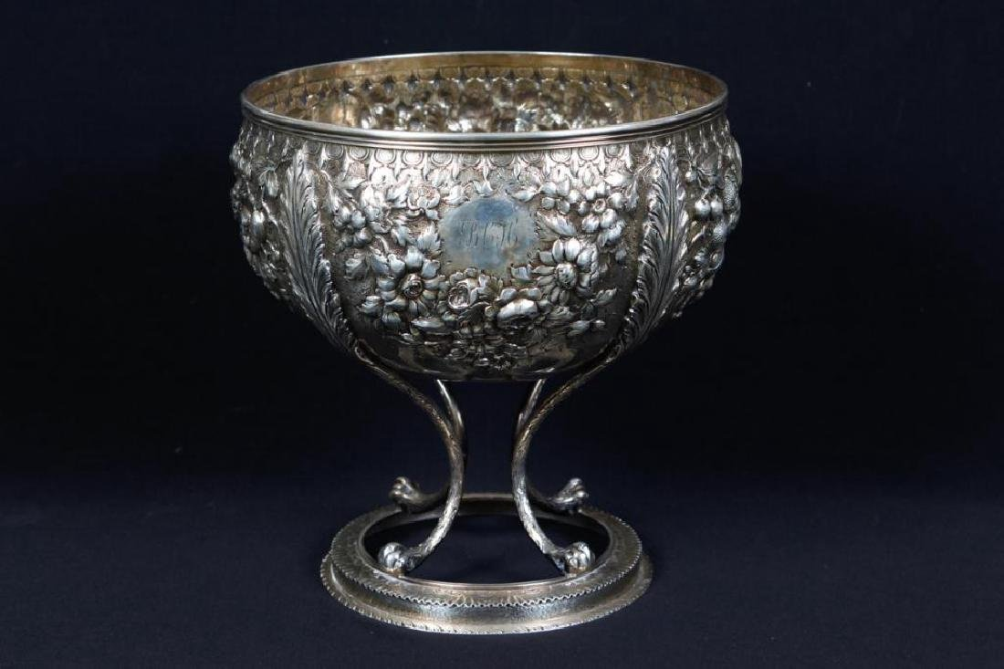 S. KIRK & SONS .917 SILVER FOOTED PUNCH BOWL