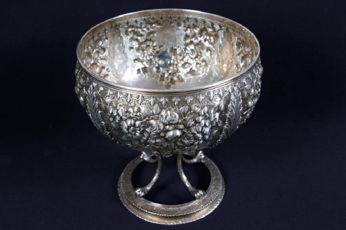 S. KIRK & SONS .917 SILVER FOOTED PUNCH BOWL - 2