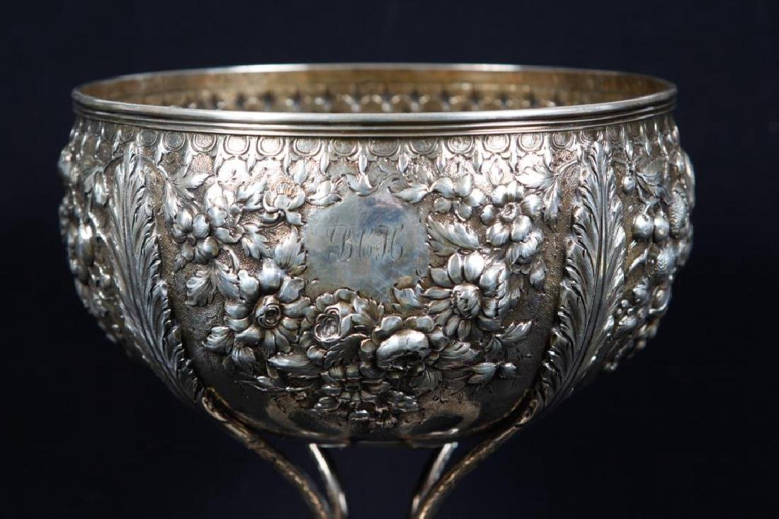 S. KIRK & SONS .917 SILVER FOOTED PUNCH BOWL - 4
