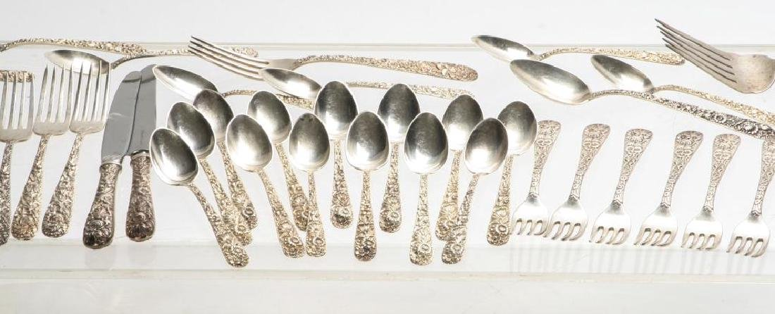 KIRK REPOUSSE PARTIAL STERLING SILVER FLATWARES - 4