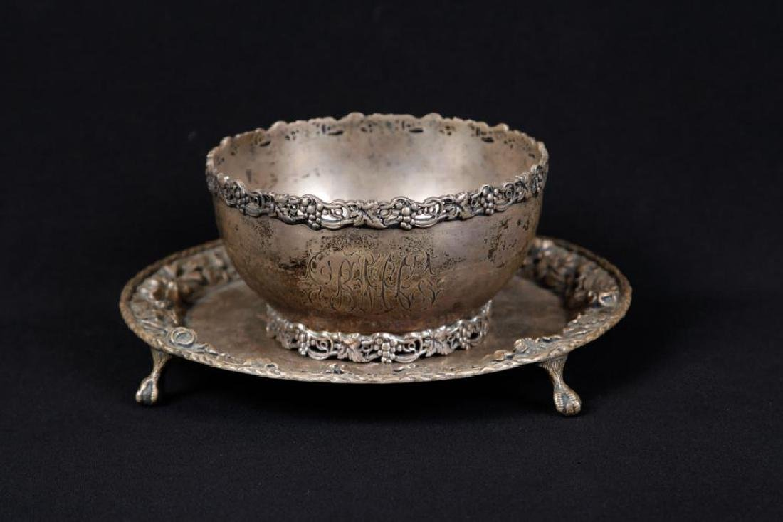 S KIRK & SON CO. STERLING SILVER BOWL & PLATE