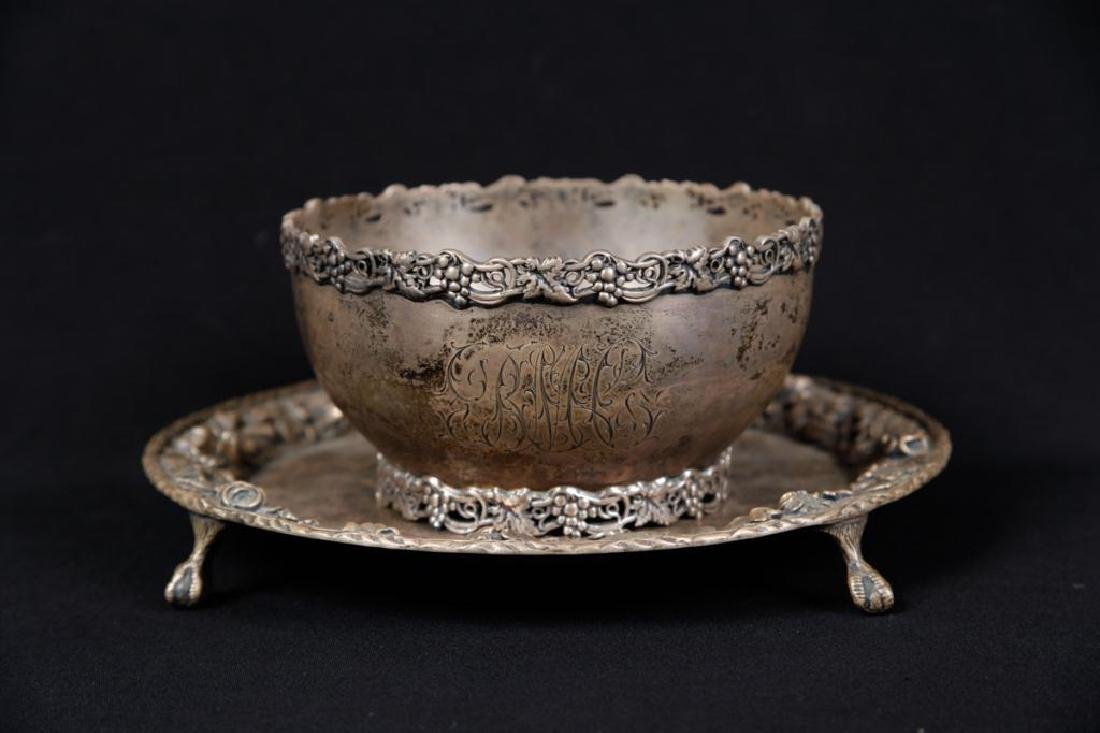 S KIRK & SON CO. STERLING SILVER BOWL & PLATE - 4