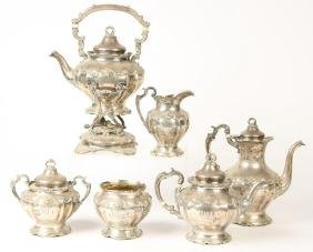 EARLY (20th c) GORHAM STERLING SILVER TEA SET