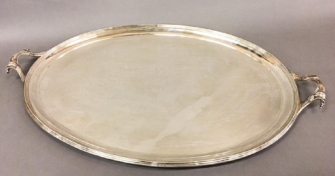 LIONEL ALFRED CRICHTON STERLING SILVER TRAY