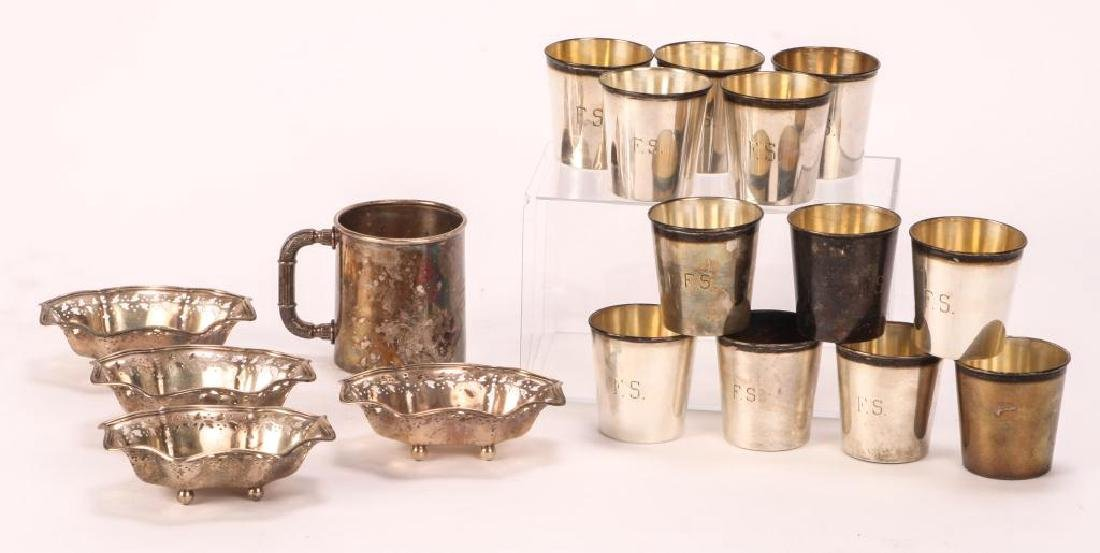(17) PIECES OF STERLING SILVER