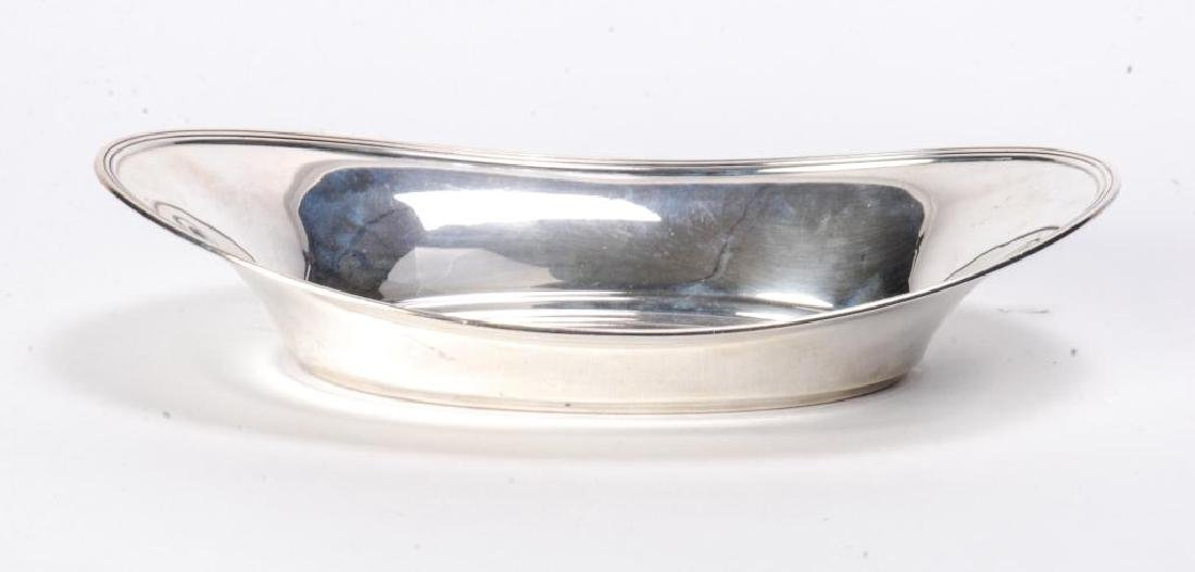 TIFFANY & CO STERLING SILVER OVAL BREAD BOWL c1930 - 6