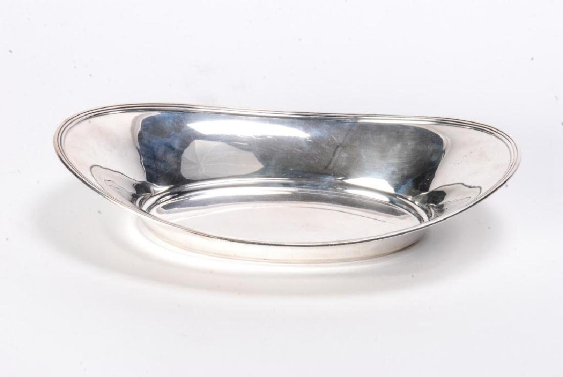 TIFFANY & CO STERLING SILVER OVAL BREAD BOWL c1930 - 7