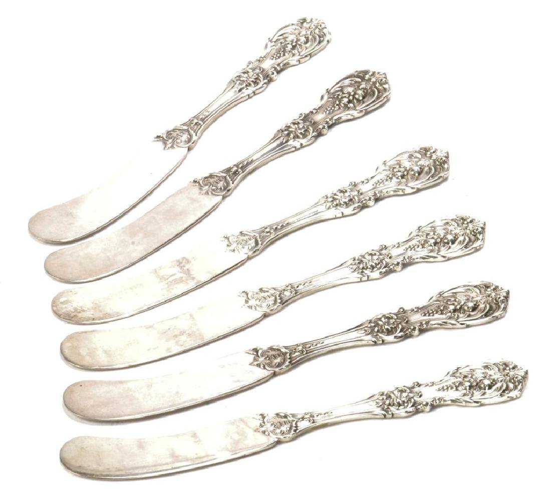 (6) STERLING SILVER REED & BARTON BUTTER SPREADERS - 3