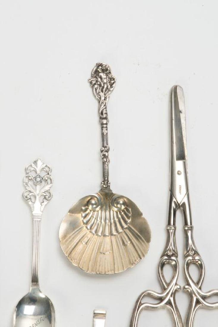 (10) PIECES OF STERLING SILVER INCL. GRAPE SHEARS - 10
