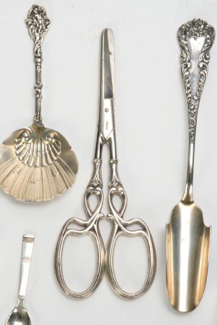 (10) PIECES OF STERLING SILVER INCL. GRAPE SHEARS - 11
