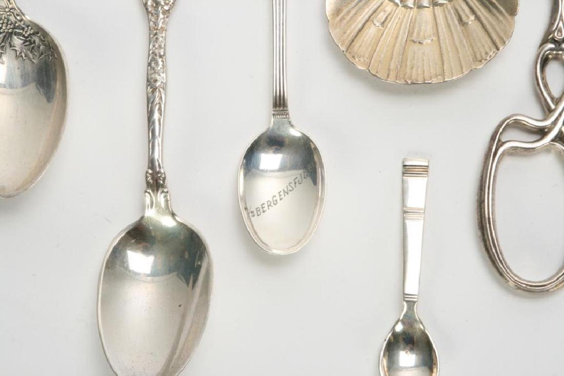 (10) PIECES OF STERLING SILVER INCL. GRAPE SHEARS - 5
