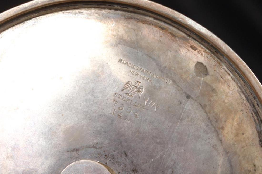 15 INCH STERLING SILVER HIGH HANDLED VASE - 5