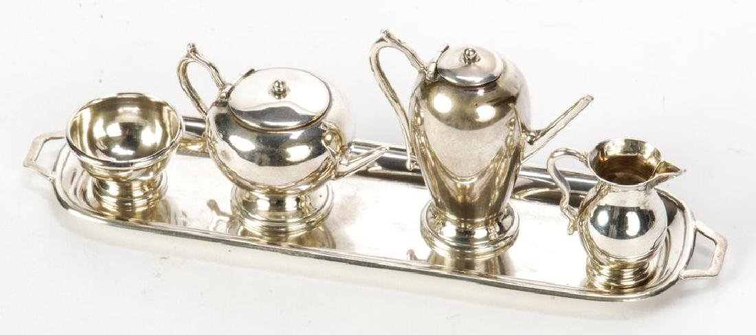 5) PIECE STERLING SILVER MINIATURE ENGLISH TEA SET