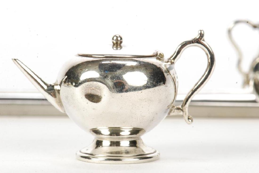 5) PIECE STERLING SILVER MINIATURE ENGLISH TEA SET - 3